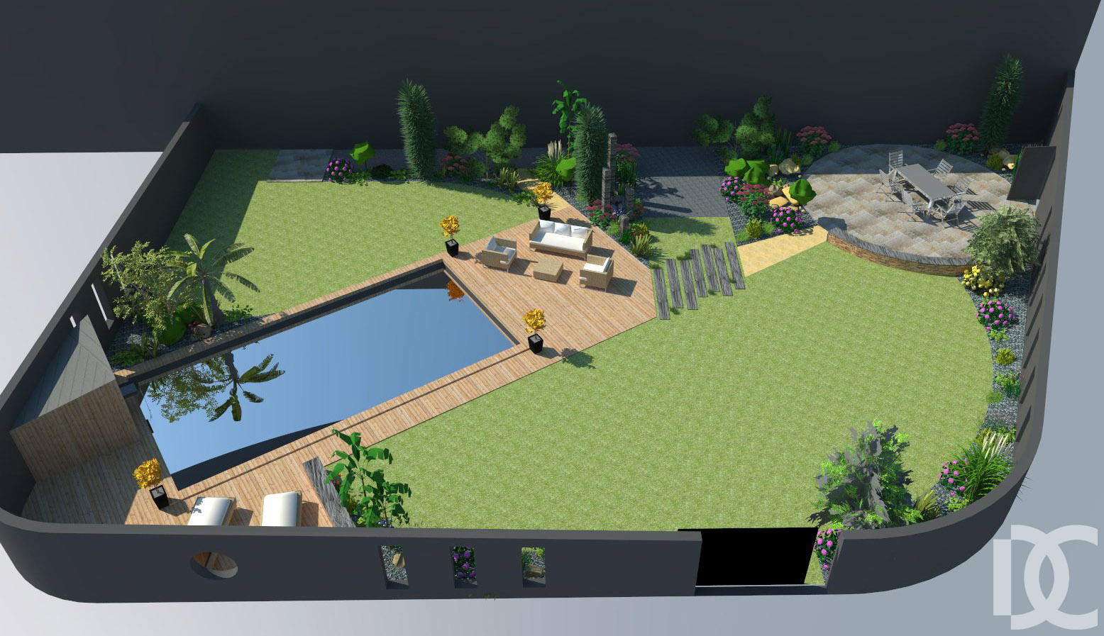 Jardin clos 53 jardin decressac for Jardin clos